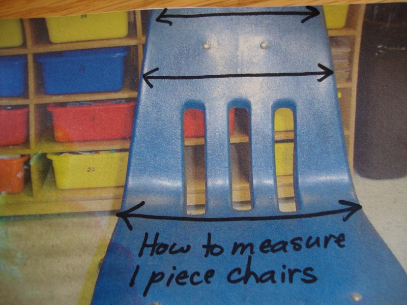 Measuring one piece chair
