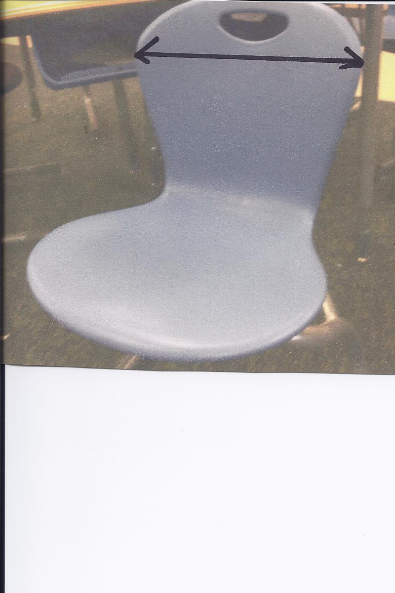 Newer style one piece chair